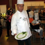 Martin Yan shows off his cucumber heart.