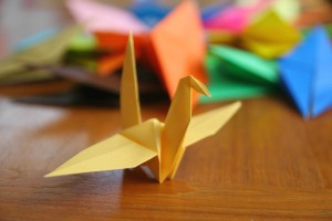 origami paper crane
