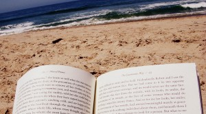 Book at beach