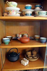 English and Asian teacup collection