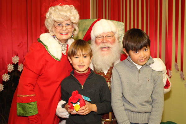 Santa Claus and boys