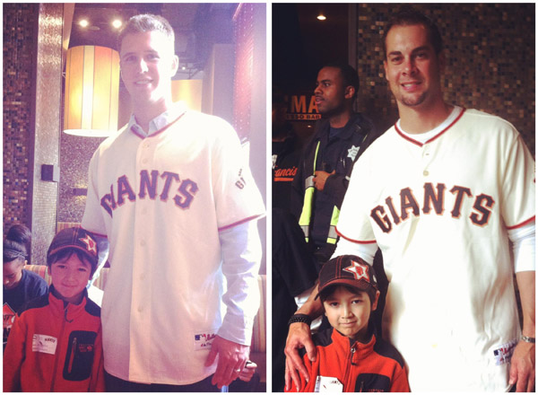 Buster Posey and Ryan Vogelsong