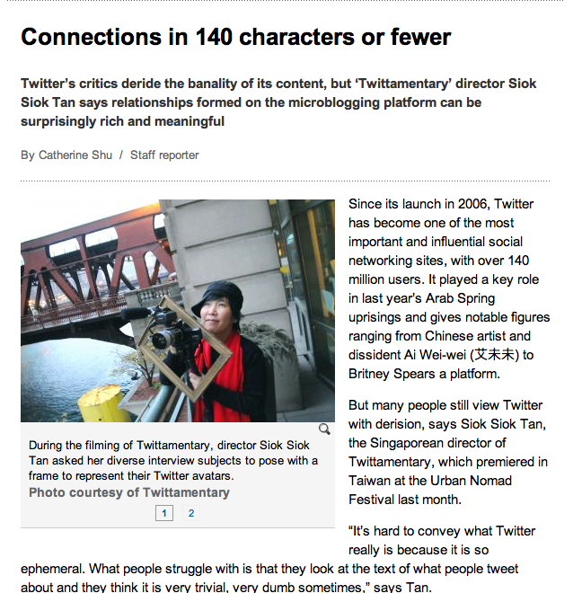 Look, Ma! I&#8217;m in the Taipei Times! For Tweeting!