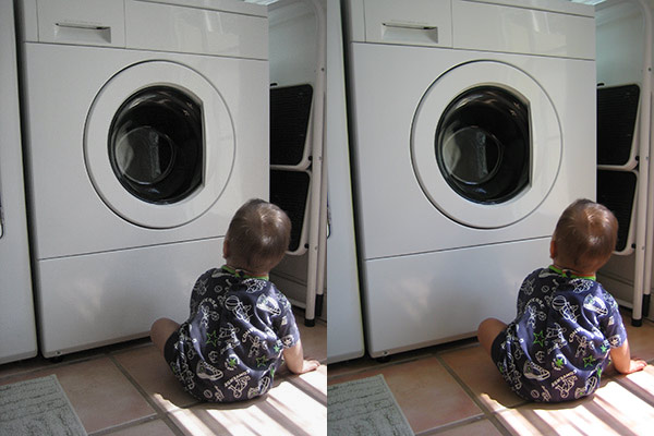 baby and washing machine