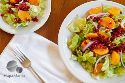 Persimmon Salad for Christmas