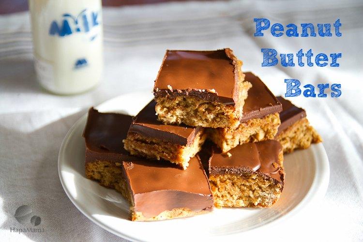 Peanut Butter Bars - HapaMama