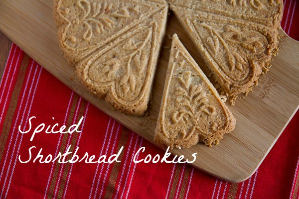 spiced shortbread cookies