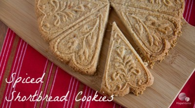 Spiced Shortbread Cookies - HapaMama