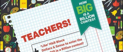 Win Money for Your School With H&R Block #howbigisabillion