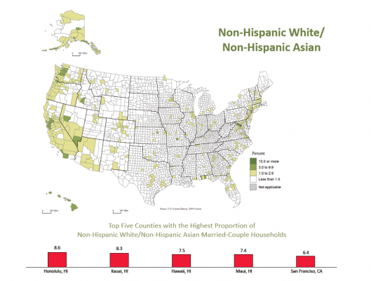 map of white/Asian marriages