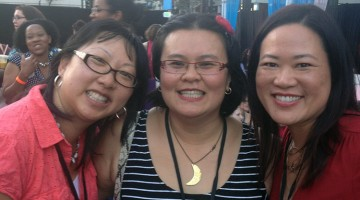 L-R: TerriAnn Gosliga, Thien Kim Lam, and Me and BlogHer '14