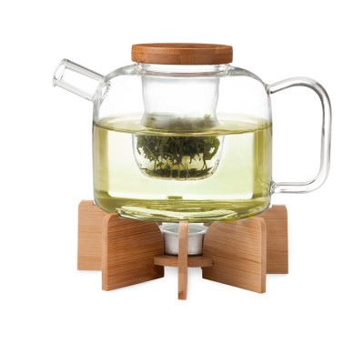 Glass Teapot with stand, Uncommon Goods