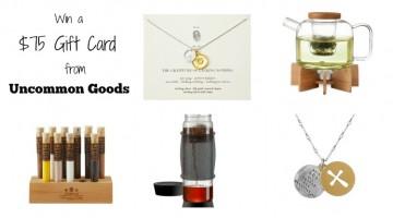Uncommon Goods $75 Gift Card Giveaway on HapaMama