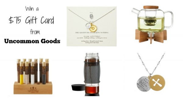 Uncommon Goods $75 Gift Card Giveaway on HapaMama