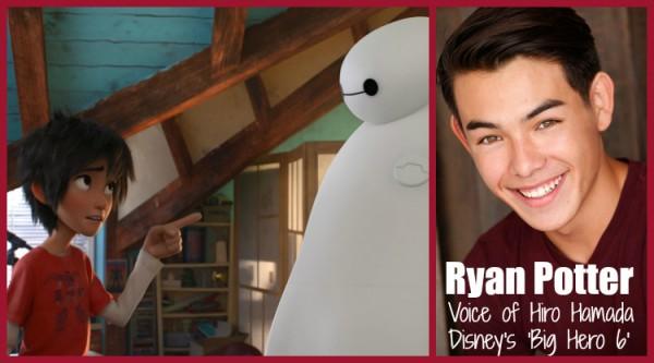 Ryan Potter as Hiro Hamada in Big Hero 6