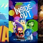 Lava, Inside Out, Monkey Kingdom - Pixar