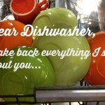 Dear Dishwasher, HapaMama