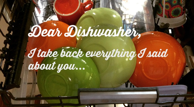 Dear Dishwasher, HapaMama