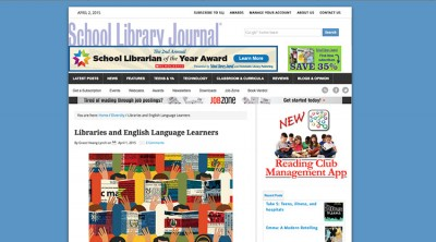 My ELL Article for School Library Journal
