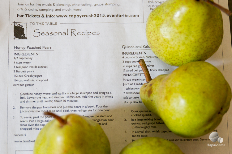 Bartlett pears and Farm Fresh to You Recipe