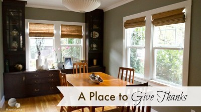 Our New Dining Room: A Place to Give Thanks
