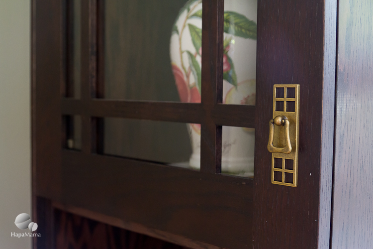 Japanese Craftsman style Antique Brass cabinet pull