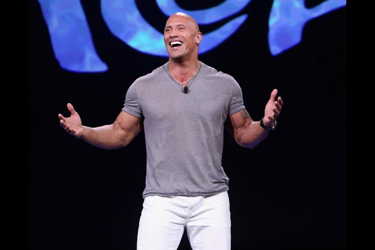 Dwayne Johnson plays Maui in Disney's Moana