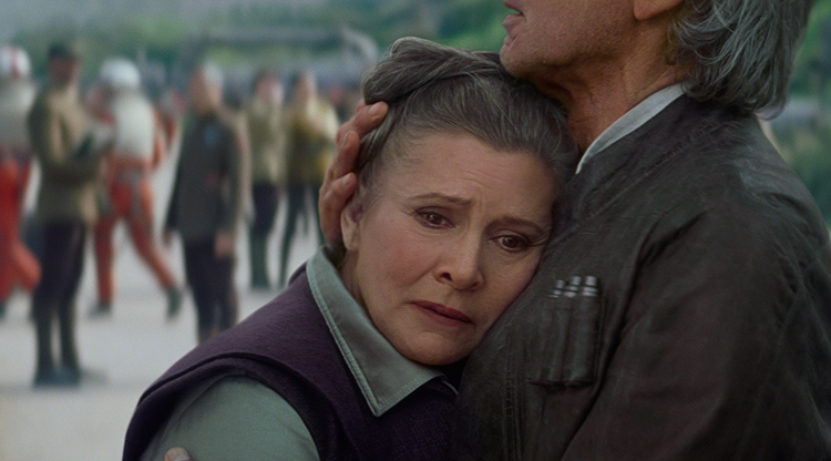 General Leia and Han Solo reunite in Star Wars the Force Awakens
