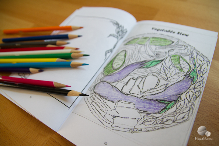 Pinakbet drawing, Filipino Food Coloring Book