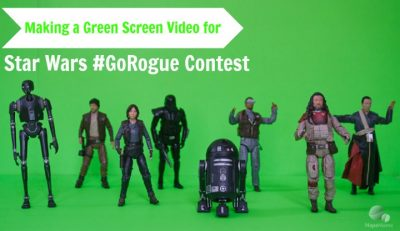 Making Green Screen Videos for Star Wars #GoRogue Contest