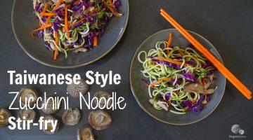Taiwanese Style Zucchini Noodle Stir-Fry