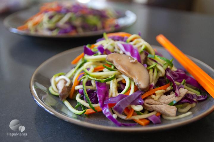 How to make Taiwanese style zucchini noodle stir-fry, HapaMama