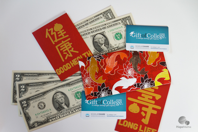Give red envelopes with ScholarShare, HapaMama