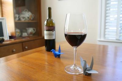 wine and cranes