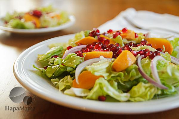 Persimmon Salad closeup