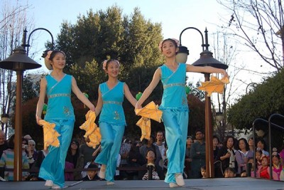 Chinese Dancers Santana Row