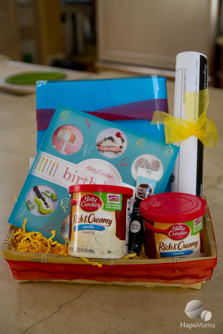 Betty Crocker birthday basket