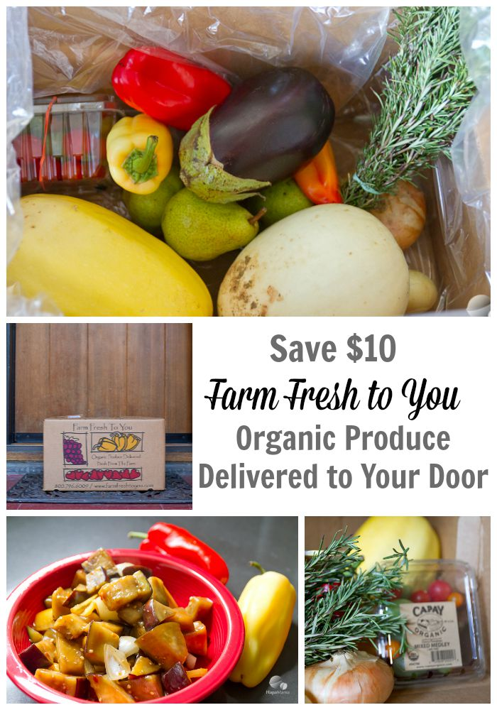 Save $10 on Farm Fresh to You Organic Produce Delivery