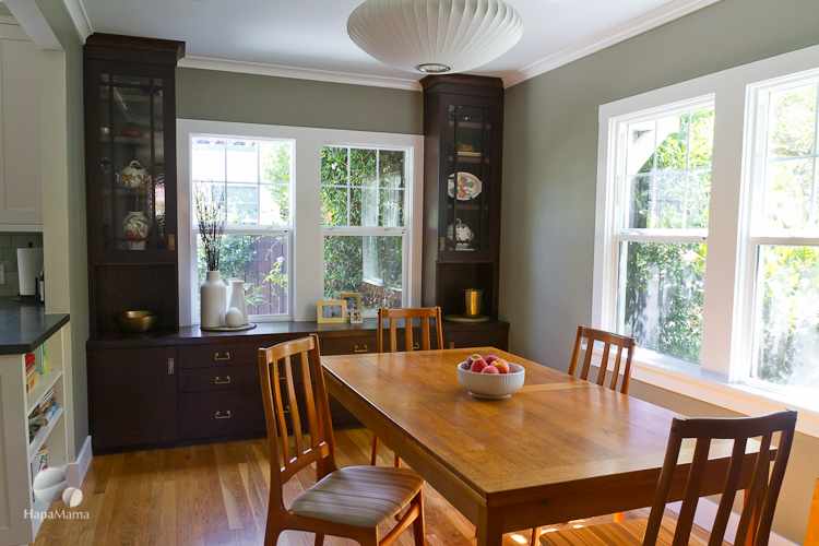 California bungalow dining room, after