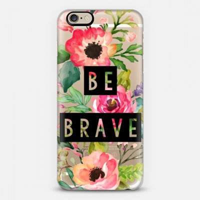 Be Brave watercolor floral phone case