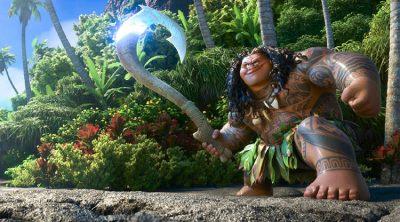 Dwayne Johnson as Maui in Disney's Moana