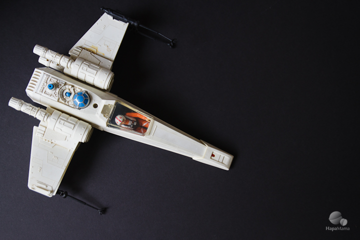 1970s X-wing fighter, Image Credit: HapaMama