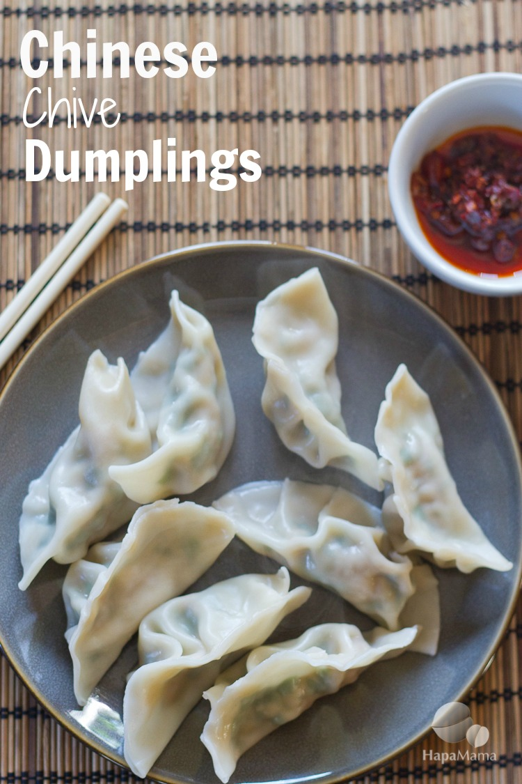 Chinese Dumplings with Chives, HapaMama