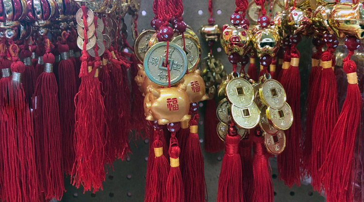 Chinese New Year decorations for year of the Pig